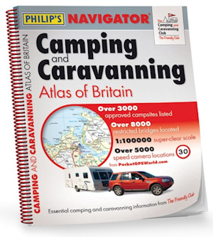 New Campsite Atlas For Campers & Caravan, Motorhome Owners