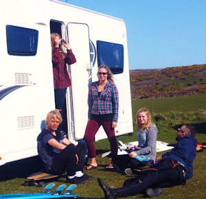 Surf's Up! Surfer Melodie King And Her Elddis Autoquest!