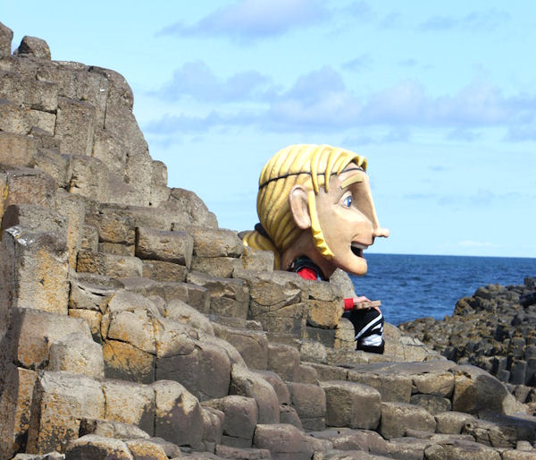 The Giant Finn Mac Cool At The Giant's Causeway
