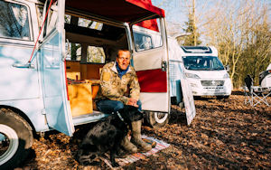 Ben Fogle And Storm Attending Caravan, Camping & Motorhome Show